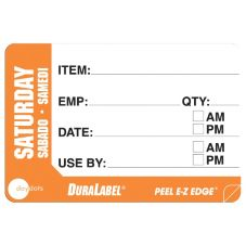 "DayDots 10260-06-31 2"" x 3"" Trilingual Saturday Prep Label - 500 / RL"