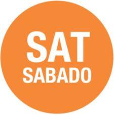 "DayDots 10103-06-21 Orange 3/4"" Saturday Bilingual Label - 2000 / RL"