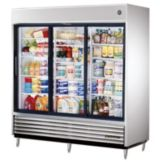 True® S/S 69 Cu Ft Reach-In Refrigerator w/ 2-Glass Sliding Doors