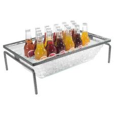 Gourmet Display® BH2304 Black Iron 1-Tier Display with  Insert Pan