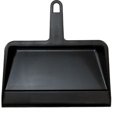 "Impact® 12"" Black Plastic Dust Pan"