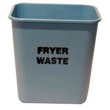 Impact® Pinch'm® 28 Qt. Blue Fryer Waste Wastebasket