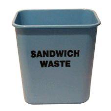 Impact® Pinch'm® 28 Qt. Blue Sandwich Waste Wastebasket