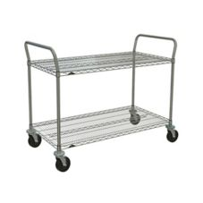 "Metro® 2SPN56ABR 24 x 60"" Cart With 2-Super Erecta® Shelves"