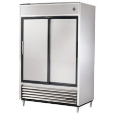 True® 2-Section 47 Cu Ft Reach-In Solid Slide-Door Refrigerator