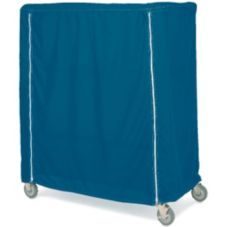 "Metro® 24 x 72 x 62"" Blue Uncoated Cart Cover w/ Velcro Close"