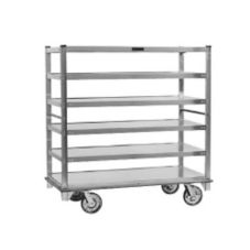 Cres Cor® Queen Mary 6-Shelf Cart w/ Push Handles and Bumpers