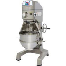 Globe Food SP40 3-Speed 40 Qt Floor Model Vertical Mixer with S/S Bowl