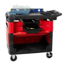 Rubbermaid® FG618088BLA Black Trades Cart with Lock Cabinet