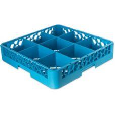 Carlisle® RG914 OptiClean™ Blue 9-Compartment Glass Rack