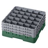 Cambro 25S738119 Sherwood Green 25 Compartment Full Size Glass Rack