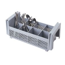 Camrack 8FBNH434151 Gray 8-Compartment Flatware Basket without Handles