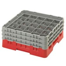 Cambro 25S638163 Camrack® Red Full Size 25 Compartment Glass Rack