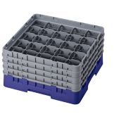 "Camrack 25S800186 Navy Blue 8-1/2"" Glass Rack with 4 Extender - 2 / CS"