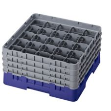 "Cambro 25S800186 Navy Blue 8-1/2"" Glass Rack with 4 Extender - 2 / CS"