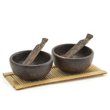 Front Of The House® Palm Wood 2 Oz Dish And Spoon Set
