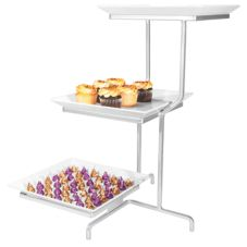 Gourmet Display SR2301-1 3-Tier Incline Display Stand With Platters