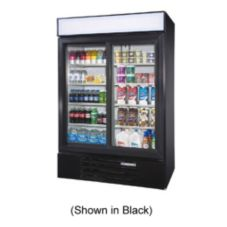 Beverage-Air LV45-1-W LumaVue White Reach-In Refrigerated Merchandiser
