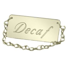 "Cal-Mil® 3.5"" x 1.5"" Gold Spigot Decaf Chain"