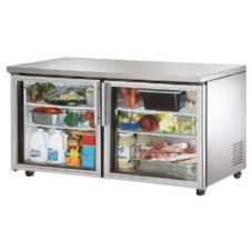 True® ADA Compliant 15.5 CF Glass Door Undercounter Refrigerator