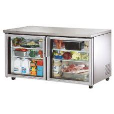 True® TUC-60G-ADA 15.5 CF Glass Door Undercounter Refrigerator