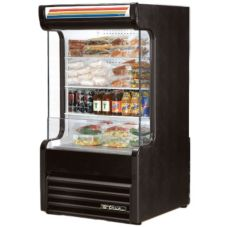 True® Glass Sided Vertical Air Curtain Merchandiser, 16.2 Cubic Ft