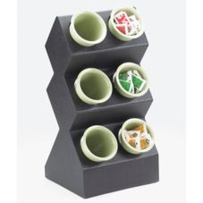 Cal-Mil® 1016-6 Spacesaver 6-Hole Silverware Display