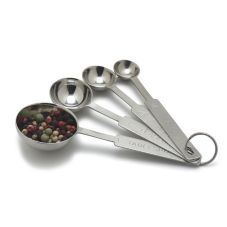 Carlisle® 604300 4-Piece Stainless Steel Measuring Spoon Set