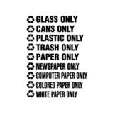 "Rubbermaid® FGRSW4 ""Trash Only"" Decals - 1 / CS"
