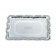 Vollrath 47267 Odyssey™ 21.75 x 15 Chrome Plated Victorian Tray