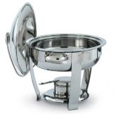 Vollrath 46501 Orion Small Oval Mirror Finish S/S 4 Qt Lift-Off Chafer