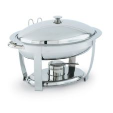 Vollrath 46500 Orion Large Oval Mirror Finish S/S Lift-Off 6 Qt Chafer