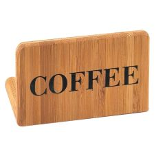 "Cal-Mil 606-1-COFFEE Bamboo 3"" x 2"" ""COFFEE"" Sign"