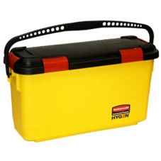 Rubbermaid® FGQ95088YEL HYGEN™ Yellow 20-Pad Charging Bucket