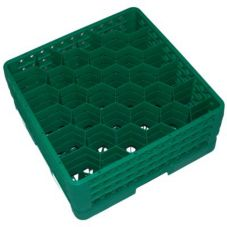 Traex TR12HHH-19 Green 30 Compartment Glass Rack w/ 3 Hexagon Extender