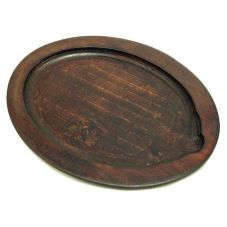 "Tomlinson 1016240 Walnut Finish 9"" x 11"" Oval Wood Underliner"