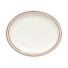 """Tuxton® TBS-914 13-3/4"""" Eggshell Oval Platter - 12 / CS"""