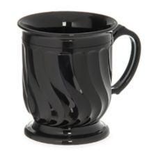 Dinex® DX300003 Turnbury Black Onyx 8 Oz. Insulated Mug - 48 / CS