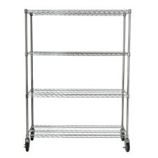 Rubbermaid FG9G8000CHRM 4 Shelf Mobile Rack f/ Prosave Ingredient Bins