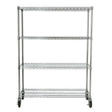 Rubbermaid FG9G8000CHRM 4 Shelf Mobile Rack f/ Prosave Ingredient Bins
