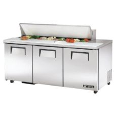 True® TSSU-72-16-ADA 19 Cu Ft Sandwich / Salad  Unit With 16 Pans
