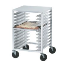 Advance Tabco PZ12 Aluminum 22 x 20 x 33.75 Half Size Pizza Pan Rack