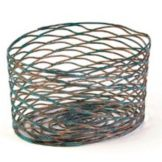 Front Of The House® TBB016PTI92 Patina Wireware Basket - 6 / CS
