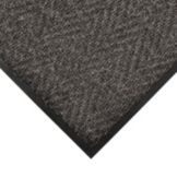 Apex 4459-117 Chevron 3' x 5' Charcoal Indoor / Outdoor Floor Mat