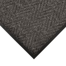 NoTrax 4459-117 Chevron 3' x 5' Charcoal Indoor / Outdoor Floor Mat