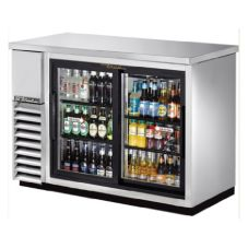 True® TBB-24-48G-SD-S-LD Glass Door Back Bar Cooler For 86 6-Packs