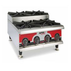 APW Wyott GHPS-4I Champion Gas (4) 30000 BTU Step-Up Burner Hot Plate