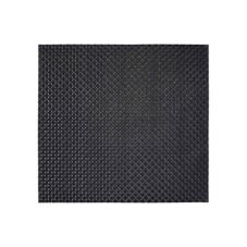 "FOH XPM036BKV83 13"" x 14"" Basketweave Placemat - 12 / CS"