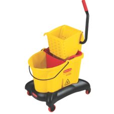 Rubbermaid® FG768000YEL WaveBreak® Dual Side Press