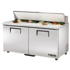 True® 16-Pan 15.5 CF Sandwich & Salad Unit w/ Cutting Board